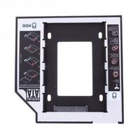 Wholesale sata macbook resale online - Universal Aluminum SATA Slim Hard Disk Drive HDD SSD Mounting Bracket for MacBook Pro CD DVD