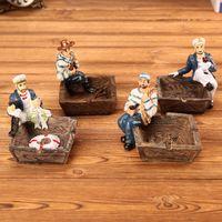 decoração mediterrânica venda por atacado-Handmade do vintage mediterrâneo cinzeiro, sala de estar criativo europeu casa cinzeiro, resina decoração presente personalizado artesanato Pirata