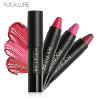 Wholesale purple lipstick brands online - FOCALLURE Brand Matte Lipstick Pen Waterproof Long lasting Sexy set Velvet Silky Red Lipstick Pencil Lips Makeup Set