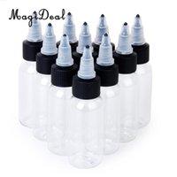 leere tattoo-tinte großhandel-MagiDeal 10 stücke 30 ml Leere Flaschen Für Tattoo Tinte Pigment Grüne Seife Bilden Behälter Flasche