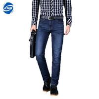 Wholesale Boys Clothes Size Jeans - Cotton Mens Jeans Stretch New Fashion Business Popular Male Blue Boy Best Choice Elasticity Hot Sale Slim Clothing Size 42