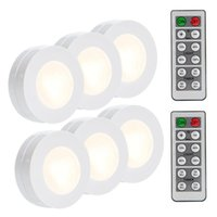 Wholesale wireless closet lights resale online - SUNBOST Wireless LED Puck Lights K Natural White Pack Kitchen Under Cabinet Lighting Wireless Closet Lights Battery Operated Remote Co