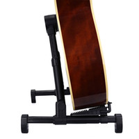Wholesale Acoustic Guitar Holder - Adjustable Guitar Stand Universal Folding for Acoustic Electric Guitars Ukulele Base Floor Stand Holder by Proxelle