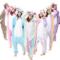 ours pyjama cosplay achat en gros de-Gros Point De Licorne Animal Panda Bear Koala Pikachu Adulte Unisexe Cosplay Costume Pyjamas Vêtements De Nuit Pour Hommes Femmes T2I133