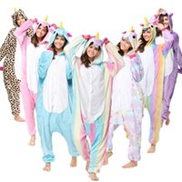 Wholesale Woman Bear Costume - Wholesale Animal Stitch Unicorn Panda Bear Koala Pikachu Adult Unisex Cosplay Costume Pajamas Sleepwear For Men Women T2I133