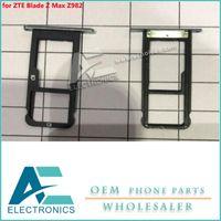 cartão sim zte venda por atacado-Para ZTE Blade Z Max Z982 Slot Para Cartão Sim Socket Holder Bandeja Acessórios Bundle ouro / cinza