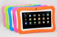Wholesale 7 inch AllWinner A33 Q88pro Children Tablet PC Android MB G Quad core crash proof gift colorful kids tablets