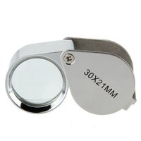 Wholesale eyes loupes for sale - Group buy Mini x21mm Jewelers Eye Loupes Jewelry Diamond Magnifiers Magnifying Glass Ingenious portable Loupe Magnifier Silver color