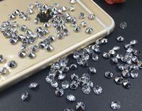 escultura de mesa de cristais de diamante de casamento venda por atacado-10000 pcs 4mm Mix cor Acrílico Diamante Confetti Wedding Party Favor Tabela Scatters Decoração De Cristal