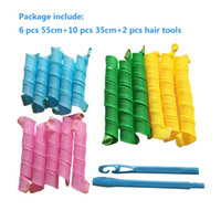 Wholesale magic hair roller curlers - 18pcs Hair Rollers Snail Rolls Styling Curler Tools, Easy At Home DIY Natural Way Magic Roller Magic Curler