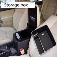 Wholesale armrest tray resale online - Central armrest container holder tray storage box for Toyota Land Cruiser Prado car organizer accessories car styling