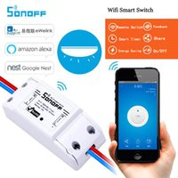 Wholesale Android Module - Universal Smart Home Sonoff Wifi Switch Automation Module Timer Diy Wireless Switch, Remote Controller Via IOS Android 10A 2200W