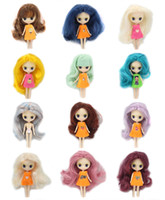 Wholesale Dolls Clothes Bjd - ICY Nude Mini Blyth Doll many kinds of hair colors,clothes random BJD