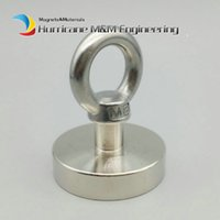 Wholesale sea magnets for sale - Group buy 1 pack Pot Magnet Diameter mm Lifting Magnet Lathed Clamping A3 Steel Cup Neodymium Fishing Magnet Deep Sea Salvage