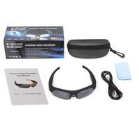 tam güneş gözlüğü toptan satış-2 Adet / grup 2017 sıcak satış Orijinal DV Spor Polarize Güneş Gözlüğü Gözlük Video HD 1080 P Kamera DVR 120 Derece Kaydedici Kam Açık