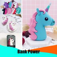 hediye gç bankası toptan satış-2600 mAh Taşınabilir Güç Bankası Pil Şarj Unicorn Karikatür USB Hediye Güç Bankası Harici Pil Güç Bankası Telefon Şarj için Cep Telefonu