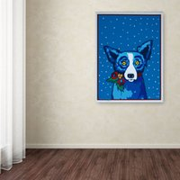 Wholesale Unframed Blue DOG quot Merry Christmas quot HD Canvas Print home decor wall art painting home art culture