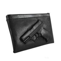 3d silahlar toptan satış-2018 Gun 3D baskı çanta kadın manşonlar zincirleri pu deri crossbody çanta kadın haberci şeker renk omuz çantaları