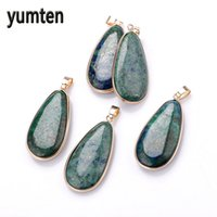 Wholesale lapis lazuli gem resale online - Yumten Lapis Lazuli Pingente Peacock Green Gems Stone Crystals Men Jewelry Mujer Necklace Women Collier Femme