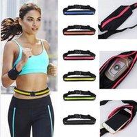 ingrosso pancia della chiusura lampo-Cellulare Outdoor Bag Sport Runner Zipper Fanny Pack Belly Marsupio Fitness Running Belt Marsupio cintura