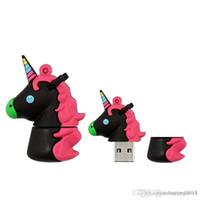 sevimli usb flash bellek toptan satış-Yeni marka çok renkli USB Flash Sürücüler 1 adet 16 GB Sevimli Gökkuşağı At USB Memory Stick Hayvan Çocuklar Için Oyuncak Pendrives hediye u11