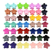 Wholesale small hair claw clips - 50pcs lot Baby Girls Hairpin Small Flowers Hair Clips Bangs Barrettes For Children Hair Accessories Gripper Kids Hair Claws