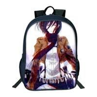 ingrosso sacchetto japan anime-2018 Hot Sale Attack On Titan Bag Japan Anime Zaini stampa per adolescenti Studenti della borsa studentesca Best Collection Souvenirs