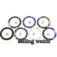 40mm Red Black Blue Green Ceramic bezel insert for 43mm automatic men's watch (7 types)