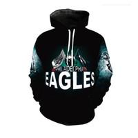 764c03fcd Cloudstyle neue Mode Eagle Hoodies Männer dünne 3D Sweatshirts mit Hut  drucken Euramerican lustige Kapuzen Hoodies Plus Größe 5XL