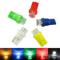 ingrosso 194 ha condotto il colore della lampadina-vendita all'ingrosso Auto Car 5-Color T10 194 168 1-LED Concave LED cuneo Base Cruscotto Lampadine a LED # 3167