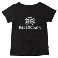 roupas para crianças amarelas venda por atacado-Atacado-infantil de manga curta de algodão T-shirt 2018 novas roupas de verão para crianças bebê T-shirt de algodão infantil frete grátis