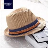 39e7cfea6af9e sombreros de paja coreanos al por mayor-2018 mujeres sombrero de jazz moda  Summer Lady