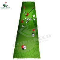 hoyo de práctica de golf al por mayor-Nueva FUNGREEN 5 agujeros Golf Putting 75x300cm verde de interior de Outdoor Training Putter Mat Interesante Golf de la práctica del cojín Poniendo