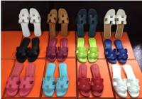 sandalen großhandel-Slippers neue französische Sandalen 2018 Mode flachen Boden bequeme Sandalen