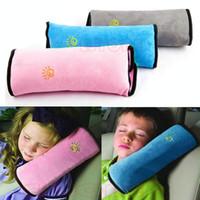 assentos de tecido de bebê venda por atacado-Alta Qualidade Crianças Cinta de Segurança Cinta de Segurança Do Bebê Crianças Cinta Micro-camurça Tecido Cintos de Segurança Do Assento de Carro Travesseiro de Ombro