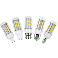 Wholesale spotlight light bulbs - SMD5730 Led Light Bulbs GU10 E27 E14 B22 G9 Led Corn Lights W W W W Led Spot Lights Degree AC V