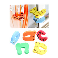 Wholesale door stop finger guard for sale - Group buy 4pcs Baby Safety Door Stop Finger Pinch Safety Guard Cartoon Kids Safety Helper Door Guard Lock Finger Protect Random Sent