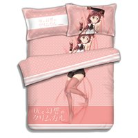 Wholesale quilt bedcover - Grimgar of Fantasy and Ash Anime Bed sheets Bedding Sheet Bedding Sets Bedcover Quilt Cover Pillow Case 4PCS