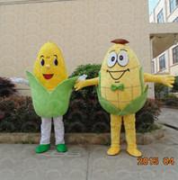 gemüse maskottchen kostüm großhandel-Erwachsene Größe Mais Maskottchen benutzerdefinierte Gemüse Mais Maskottchen Kostüm Kostüm Shool Event Geburtstag Party Kostüm Maskottchen