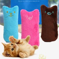 Wholesale tooth plush - Cute Cat Chew Toys Plush Pet Teeth Grinding Catnip Toys Resistance To Bite Multi Color Cat Toys CCA9705 100pcs
