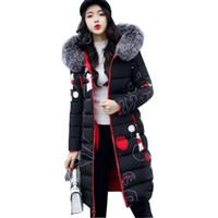 manteau d'hiver à double face achat en gros de-Two Side Wear Manteau D'hiver Femmes Vêtements De Coton D'hiver Auto-culture Épais Coton Veste Femmes Parkas Imprimer Femme Manteaux