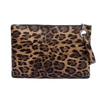 ingrosso borse da sera stampa animale-Clutch Animal Stampa PU Leather Messenger Bag Women Zipper Coin Purse Moda Femminile Purse da sera Ragazze bolso leopardo