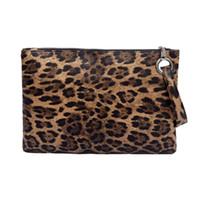 sacos de noite de impressão animal venda por atacado-Embreagem de Impressão animal PU Bolsa De Couro Do Mensageiro Das Mulheres Bolsa Com Zíper Da Moeda Da Moda Feminina Evening Bolsa Meninas leopardo bolsa