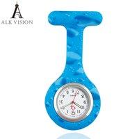 ingrosso qualità dell'ospedale-Colore di alta qualità orologio in silicone infermiera orologio da tasca orologio da tasca regalo infermieristica orologi orologio al quarzo spilla orologio da ospedale ALK VISION