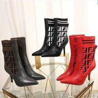 Wholesale flower design stilettos online - Superstar Designer sock Boots Knee Boots for Women Sexy High Heel cm luxury brand shoes Design Handmade Quality Pointed Knee Boots Szie42