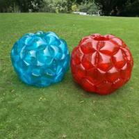 şişirilebilir gövde topları toptan satış-Çocuk Şişme Vücut Bump Topu Spor Oyuncaklar PVC Hava Kabarcığı Eğlenceli Açık Interaktif Oyun Eğlenceli Tampon Topları 52sr W