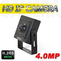 venda de caminhos-de-pinhole venda por atacado-Venda quente Mini HD Câmera IP 4.0MP Onvif H.264 H.265 CCTV Câmera IP 1080 P HD Mini Pinhole Lente P2P Câmeras de Vigilância de Vídeo Em Casa