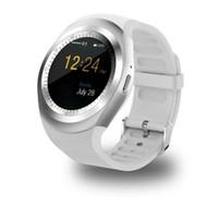 u1 умные часы оптовых-U1 Y1 смарт-часы 1.54 дюймов IPS круглый сенсорный экран водонепроницаемые Smartwatch с слот для SIM-карты смарт-часы для IOS Android телефон MQ50