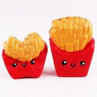 kawaii squeeze spielzeug großhandel-Nette Kawaii Weiche Squishy Squishi 12 Cm Pommes Frites Creme Duft Squeeze 6 Sekunden Langsam Steigenden Dekompression Spaß Spielzeug Für Erwachsene