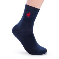 calcetines invierno calidad hombre al por mayor-Calcetines de los hombres de la marca Meias calcetines calientes del invierno del hombre bordado de algodón de alta calidad escarpada para hombre calcetines Calcetines Hombre